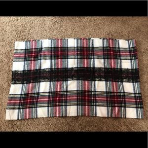 Betsey Johnson plaid eternity scarf